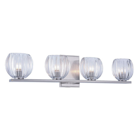 Monticello 25 Wall Sconce With 4 Lights - Burnished Nickel Finish Wall Sconce