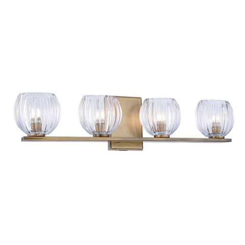 Monticello 25 Wall Sconce With 4 Lights - Light Antique Brass Finish Wall Sconce