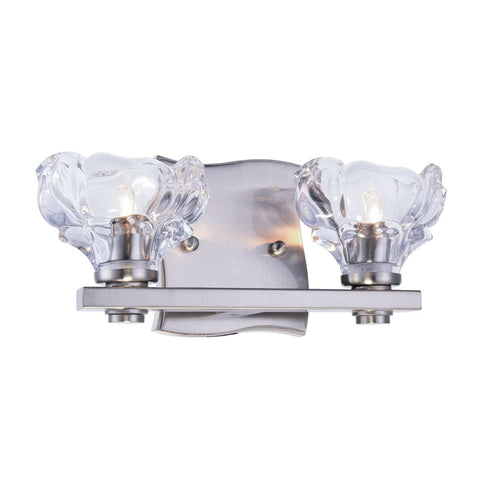 Terpin 12 Wall Sconce With 2 Lights - Burnished Nickel Finish Wall Sconce