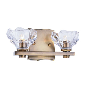 Terpin 12 Wall Sconce With 2 Lights - Light Antique Brass Finish Wall Sconce