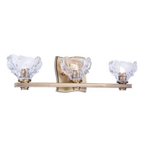 Terpin 20 Wall Sconce With 3 Lights - Light Antique Brass Finish Wall Sconce