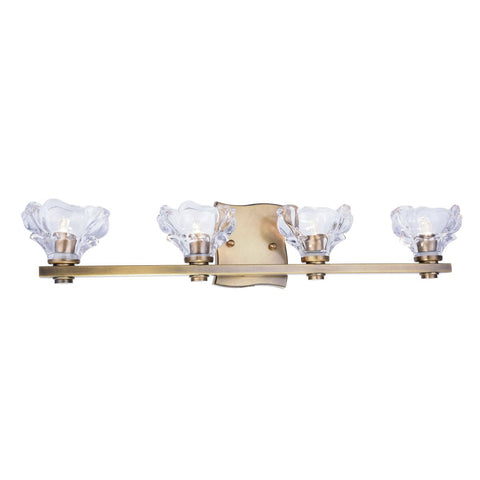 Terpin 27 Wall Sconce With 4 Lights - Light Antique Brass Finish Wall Sconce