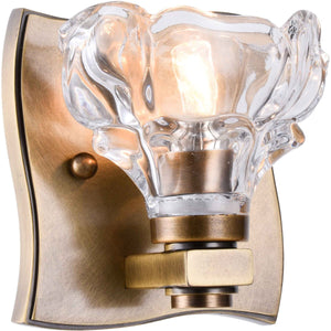Terpin 5 Wall Sconce With 1 Light - Light Antique Brass Finish Wall Sconce