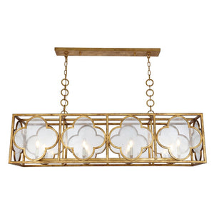 Trinity 54 Pendant With 8 Lights - Golden Iron Finish Pendant