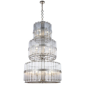 Piper 32 Pendant With 18 Lights - Antique Silver Leaf Finish Pendant