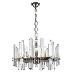 Lincoln 25 Crystal Chandelier With 10 Lights - Polished Nickel Finish Chandelier