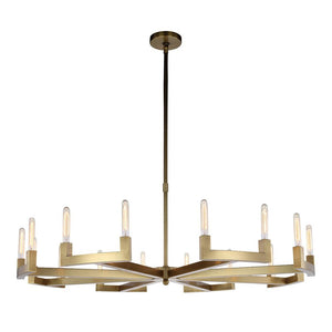 Corsica 60 Pendant With 16 Lights - Burnished Brass Finish Pendant