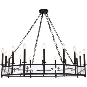 Exeter 20 X 37.5 Pendant With 12 Lights - Vintage Bronze Finish Pendant