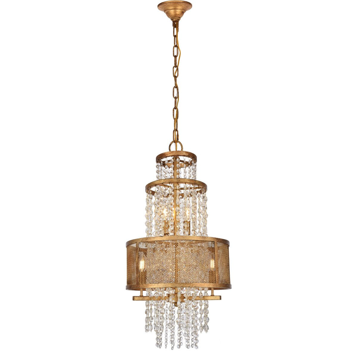 Legacy 16 Pendant Chandelier With 5 Lights - Golden Iron Finish Chandelier