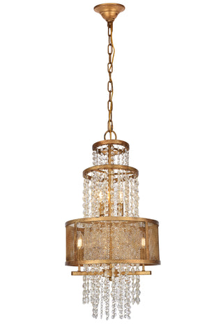Legacy  8 light Golden Iron Pendant