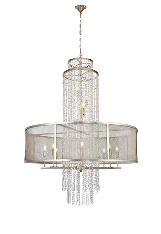 Legacy  12 light Antique Sliver Leaf Chandelier
