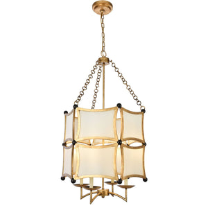 White Sails 23 Pendant With 4 Lights - Golden Iron Finish Pendant