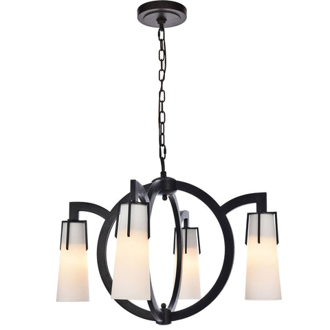 Harlow Nights 28 Pendant With 4 Lights - Vintage Bronze Finish Pendant