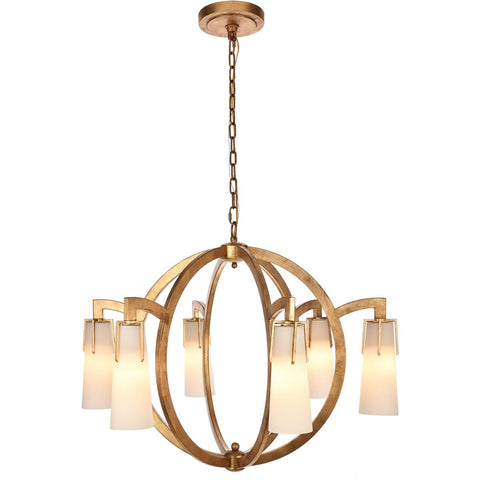 Harlow Nights 36 Pendant With 6 Lights - Golden Iron Finish Pendant