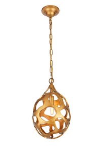 "10"" BOMBAY Collection Candle-style chandelier with 1 light - Gilded Gold Finish"
