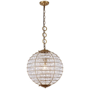 Bellagio 18 Mini Pendant - Antique Gold Leaf Finish Pendant