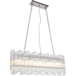 Riviera 7 X 40.8 Pendant Chandelier With 5 Lights - Chrome Finish Chandelier