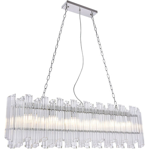 Riviera 7 X 50.5 Pendant Chandelier With 6 Lights - Chrome Finish Chandelier
