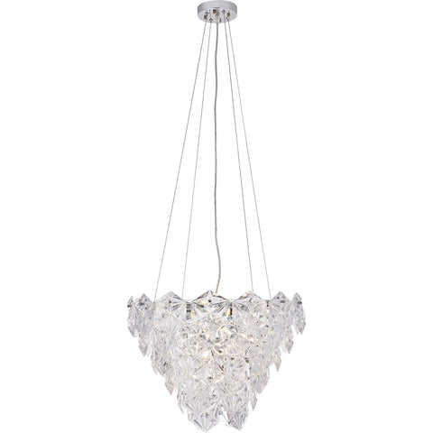 London 19.7 Pendant Chandelier With 6 Lights - Chrome Finish Chandelier