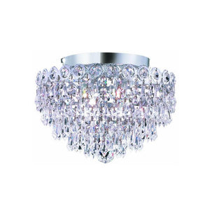 Century 12 Crystal Flush Mount 4 Lights - Chrome Finish And Elegant Cut Crystal Flush Mount