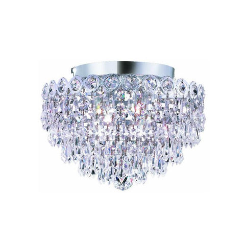Century 12 Crystal Flush Mount 4 Lights - Chrome Finish And Spectra Swarovski Crystal Flush Mount