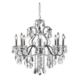 St. Francis 26 Crystal Chandelier With 8 Lights - Dark Bronze Finish And Spectra Swarovski Crystal Chandelier