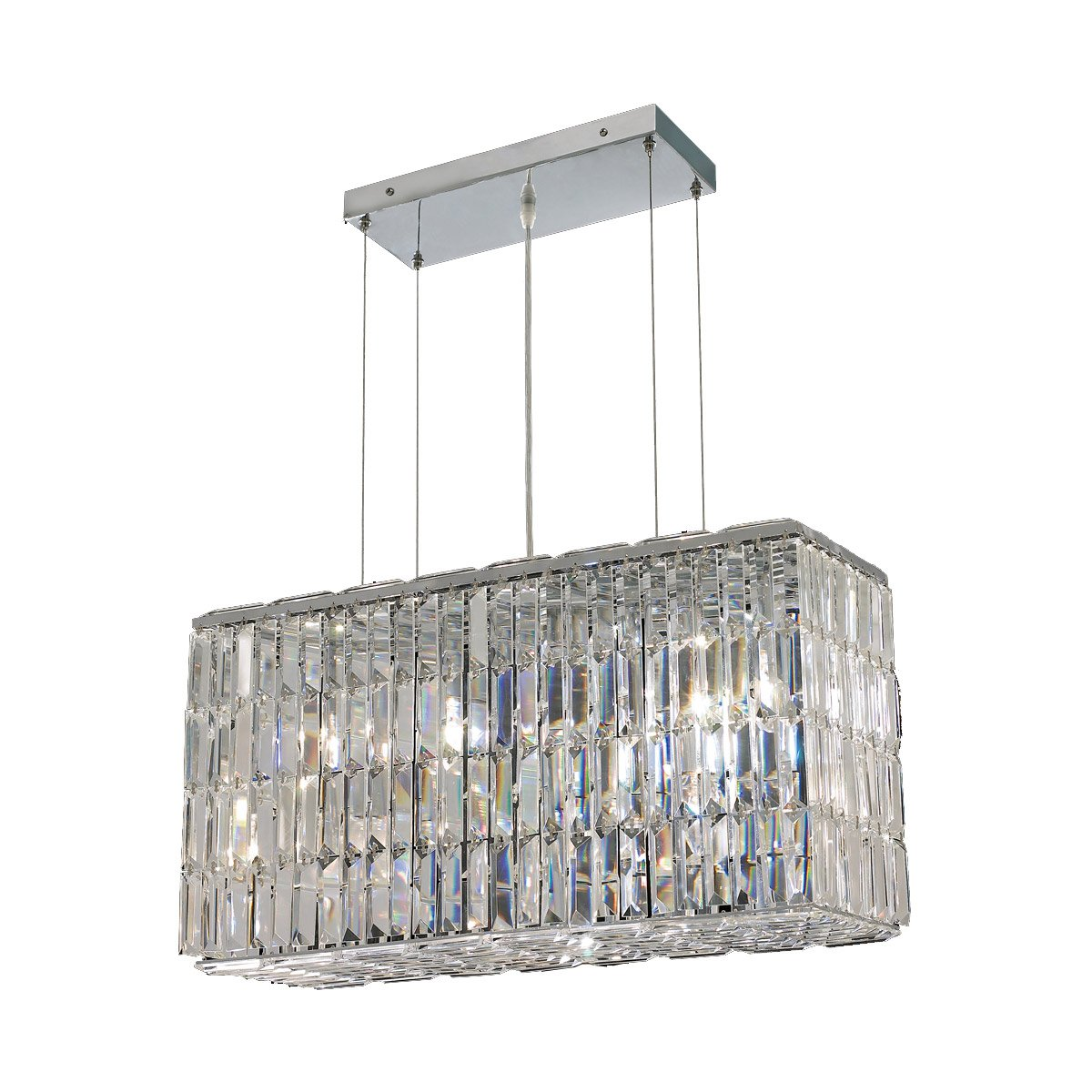 Maxime 26 Crystal Chandelier With 8 Lights - Chrome Finish And Clear / Spectra Swarovski Crystal Chandelier