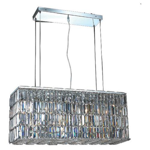 Maxime 32 Crystal Chandelier With 8 Lights - Chrome Finish And Clear / Elegant Cut Crystal Chandelier