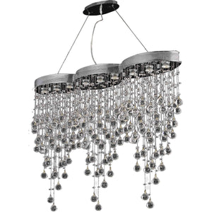 Galaxy 48 Crystal Chandelier With 9 Lights - Chrome Finish And Spectra Swarovski Crystal Chandelier