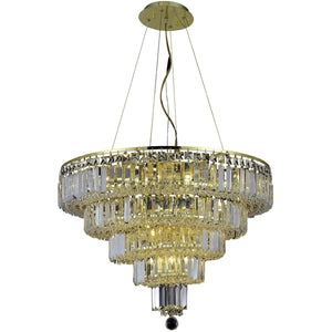 Maxime 26 Crystal Chandelier With 14 Lights - Gold Finish And Clear / Swarovski Elements Crystal Chandelier