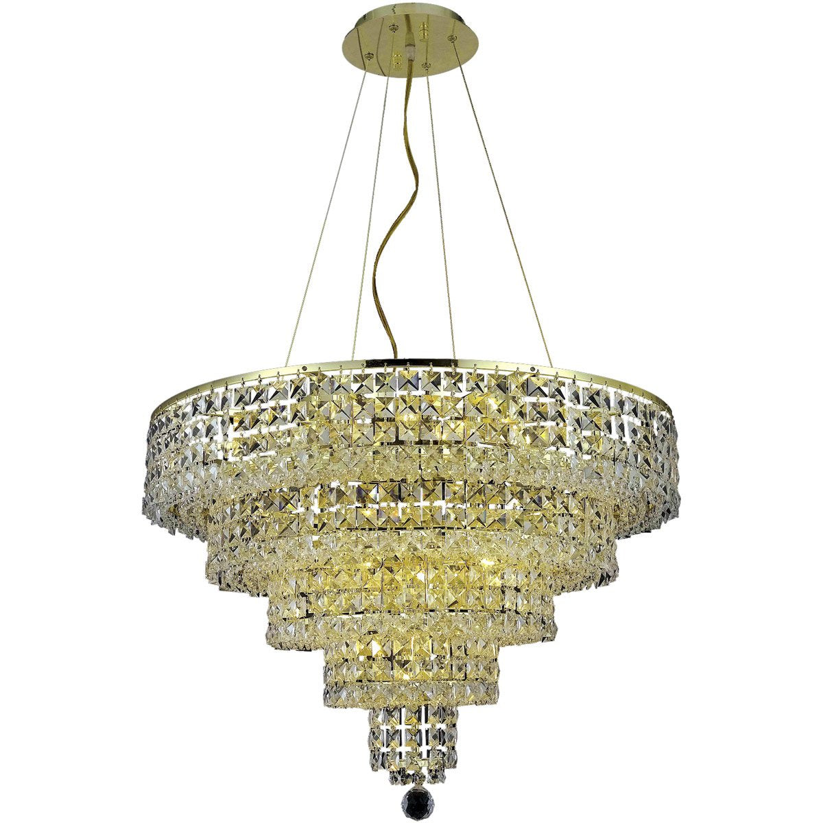 Maxime 26 Crystal Chandelier With 14 Lights - Gold Finish And Clear / Elegant Cut Crystal Chandelier