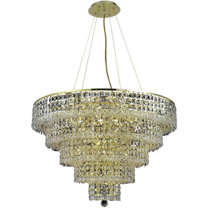 Maxime 30 Crystal Chandelier With 17 Lights - Gold Finish And Clear / Swarovski Elements Crystal Chandelier