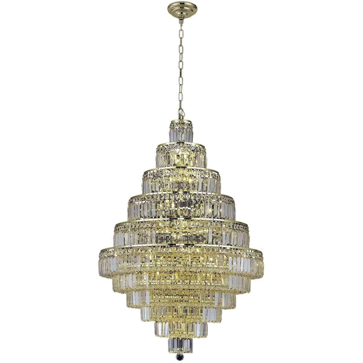Maxime 32 Crystal Chandelier With 30 Lights - Gold Finish And Clear / Swarovski Elements Crystal Chandelier
