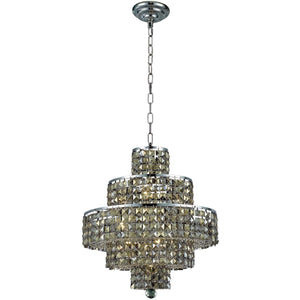 Maxime 20 Crystal Chandelier With 13 Lights - Chrome Finish And Smokey / Swarovski Elements Crystal Chandelier