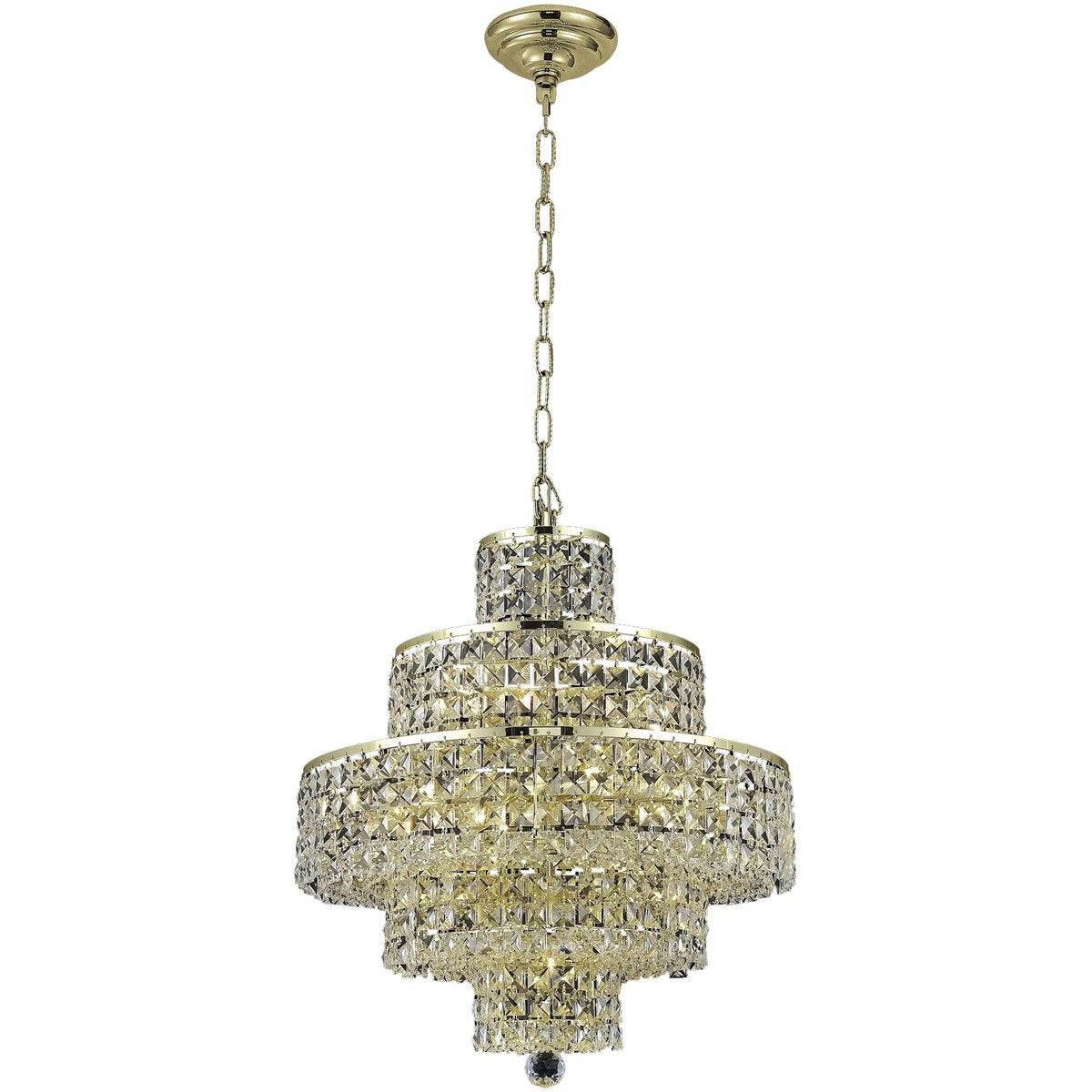 Maxime 20 Crystal Chandelier With 13 Lights - Gold Finish And Clear / Swarovski Elements Crystal Chandelier
