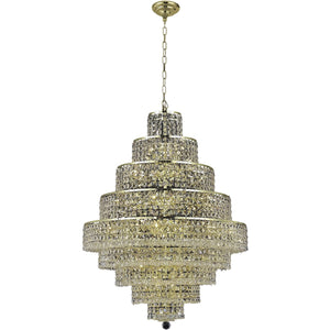 Maxime 30 Crystal Chandelier With 20 Lights - Gold Finish And Clear / Royal Cut Crystal Chandelier