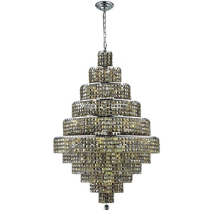 Maxime 32 Crystal Chandelier With 30 Lights - Chrome Finish And Smokey / Swarovski Elements Crystal Chandelier