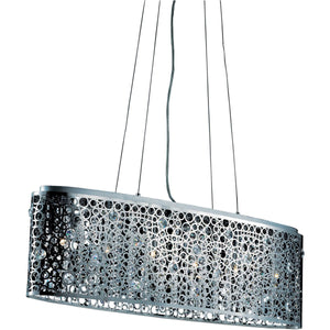Soho 38 Crystal Chandelier With 6 Lights - Chrome Finish Chandelier