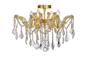 "Maria 18"" Crystal Flush Mount with 4 Lights - Gold Finish"
