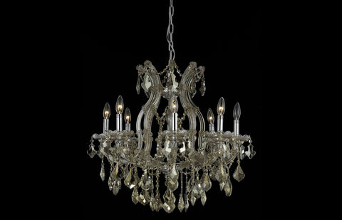 "26"" Maria Theresa Chandelier with 9 lights - Golden Teak Finish"