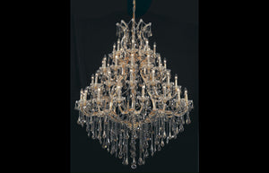 "46"" Maria Theresa Chandelier with 49 lights - Golden Finish / Royal Cut Crystal"