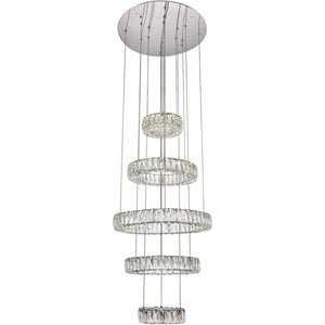 Monroe 25.6 Pendant Chandelier With Led Lights - Chrome Finish Chandelier