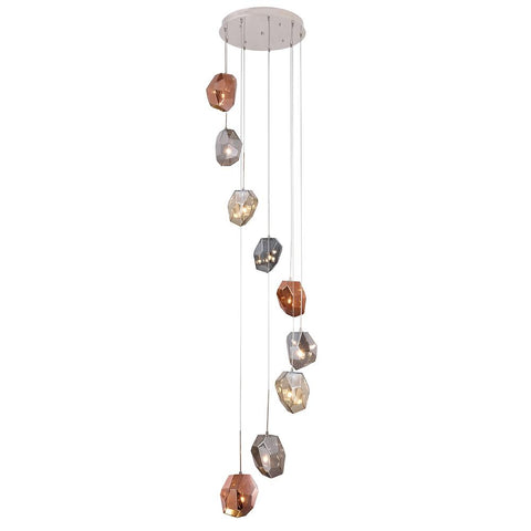 Gibeon 23 Pendant With 9 Lights - Polished Nickel Finish Pendant