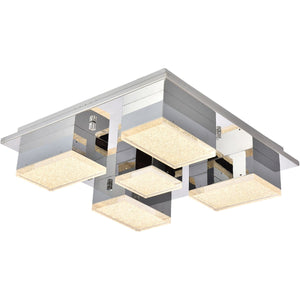 Glasgow 15.7 X 15.7 Flush Mount With Led Lights - Chrome Finish Flush Mount