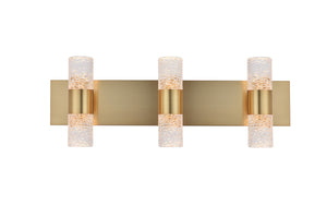 "Vega Wall Sconce 24"" with 6 LED lights - Gold Finished"