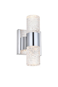 "Vega Wall Sconce 4.53"" with 2 LED lights - Chrome Finished"