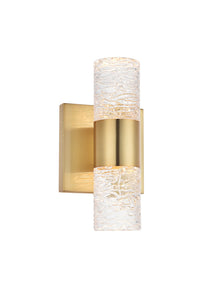 "Vega Wall Sconce 4.53"" with 2 LED lights - Gold Finished"