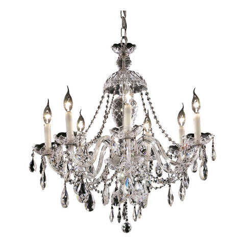 Alexandria 26 Crystal Chandelier With 7 Lights - Chrome Finish And Swarovski Elements Crystal Chandelier