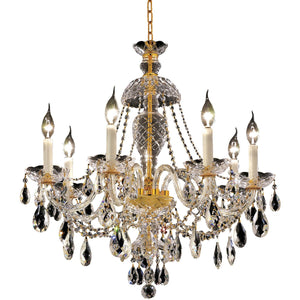Alexandria 26 Crystal Chandelier With 7 Lights - Gold Finish And Swarovski Elements Crystal Chandelier