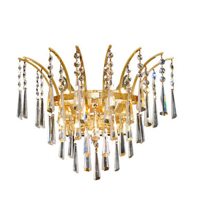 Victoria 16 Crystal Wall Sconce With 3 Lights - Gold Finish And Spectra Swarovski Crystal Wall Sconce